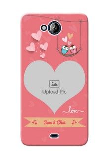 Micromax Canvas Play Q355 heart frame with love birds Design