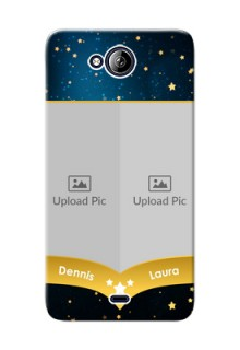 Micromax Canvas Play Q355 2 image holder with galaxy backdrop and stars  Design