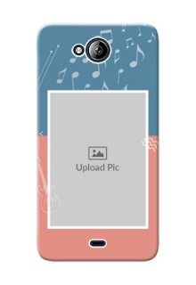 Micromax Canvas Play Q355 2 colour backdrop with music theme Design