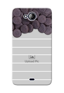 Micromax Canvas Play Q355 oreo biscuit pattern with white stripes Design Design
