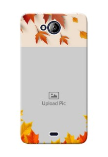 Micromax Canvas Play Q355 autumn maple leaves backdrop Design