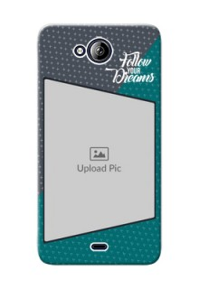 Micromax Canvas Play Q355 2 colour background with different patterns and dreams quote Design
