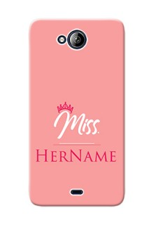 Micromax Canvas Play Q355 Custom Phone Case Mrs with Name