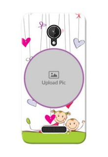 Micromax Canvas Spark Cute Babies Mobile Cover  Design