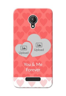 Micromax Canvas Spark Couples Picture Upload Mobile Cover Design