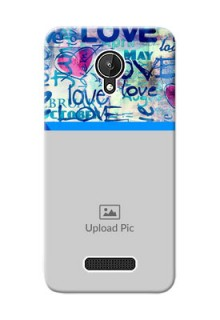 Micromax Canvas Spark Colourful Love Patterns Mobile Case Design