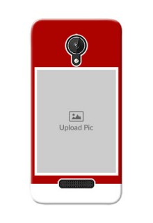 Micromax Canvas Spark Simple Red Colour Mobile Cover  Design
