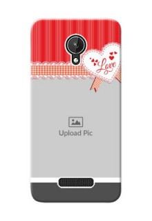 Micromax Canvas Spark Red Pattern Mobile Cover Design