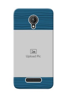 Micromax Canvas Spark Blue Pattern Mobile Case Design
