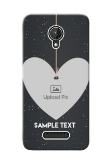 Micromax Canvas Spark Hanging Heart Mobile Back Case Design
