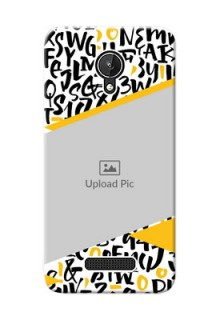 Micromax Canvas Spark 2 image holder with letters pattern  Design
