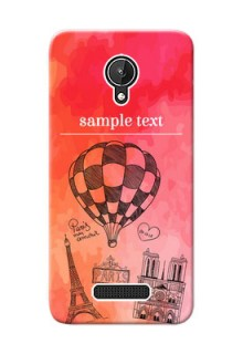 Micromax Canvas Spark abstract painting with paris theme Design