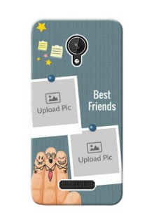 Micromax Canvas Spark 3 image holder with sticky frames and friendship day wishes Design