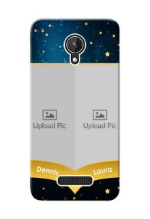 Micromax Canvas Spark 2 image holder with galaxy backdrop and stars  Design