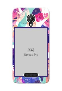Micromax Canvas Spark abstract floral Design