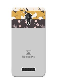 Micromax Canvas Spark stylish floral side Design