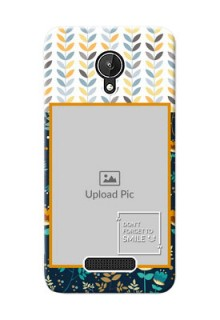Micromax Canvas Spark seamless and floral pattern design with smile quote Design