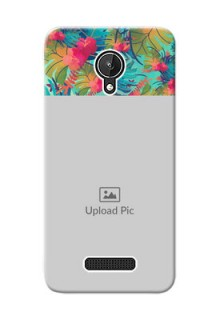 Micromax Canvas Spark colourful watercolour floral Design