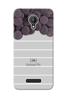 Micromax Canvas Spark oreo biscuit pattern with white stripes Design