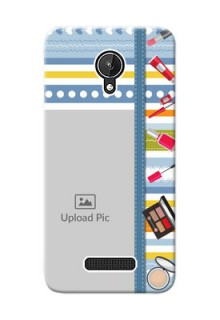 Micromax Canvas Spark hand drawn backdrop with makeup icons Design