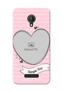 Micromax Canvas Spark seamless stripes with vintage heart shape Design