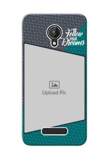Micromax Canvas Spark 2 colour background with different patterns and dreams quote Design Design