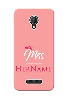 Micromax Canvas Spark Custom Phone Case Mrs with Name