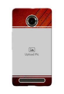 Micromax Yuphoria Leather Design Picture Upload Mobile Case Design