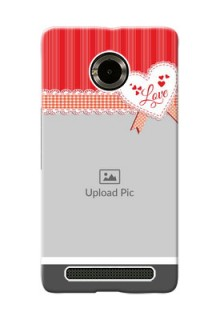 Micromax Yuphoria Red Pattern Mobile Cover Design