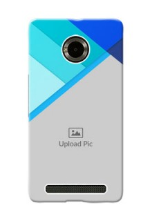 Micromax Yuphoria Blue Abstract Mobile Cover Design