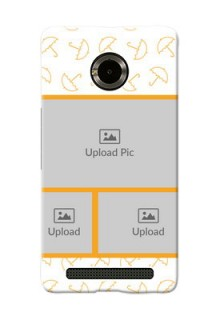 Micromax Yuphoria Yellow Pattern Mobile Back Cover Design