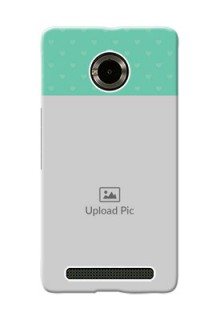 Micromax Yuphoria Lovers Picture Upload Mobile Cover Design