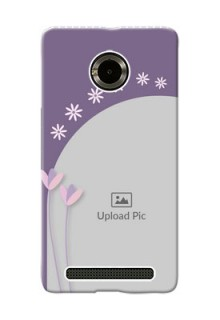 Micromax Yuphoria lavender background with flower sprinkles Design Design