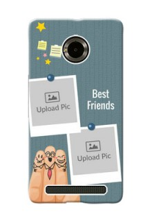 Micromax Yuphoria 3 image holder with sticky frames and friendship day wishes Design
