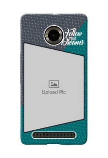 Micromax Yuphoria 2 colour background with different patterns and dreams quote Design Design