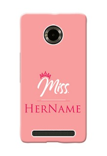 Micromax Yuphoria Custom Phone Case Mrs with Name