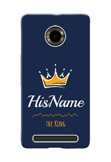 Micromax Yuphoria King Phone Case with Name