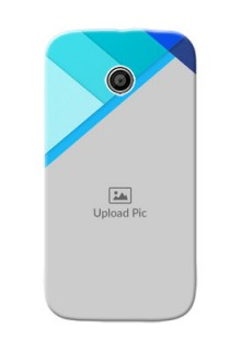Motorola E Blue Abstract Mobile Cover Design