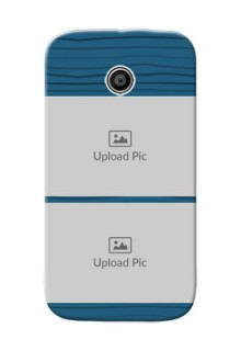 Motorola E Blue Pattern Mobile Case Design