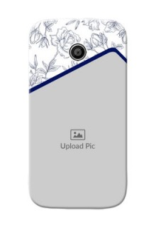 Motorola E Floral Design Mobile Cover Design