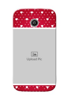 Motorola E Beautiful Hearts Mobile Case Design