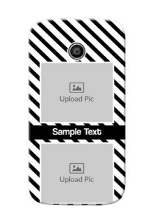 Motorola E 2 image holder with black and white stripes Design