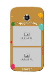 Motorola E 2 image holder with birthday celebrations Design