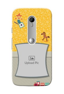 Motorola G Turbo Baby Picture Upload Mobile Cover Design