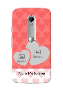 Motorola G Turbo Couples Picture Upload Mobile Cover Design