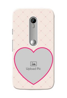 Motorola G Turbo Love Symbol Picture Upload Mobile Case Design