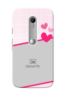 Motorola G Turbo Pink Design With Pattern Mobile Cover Design