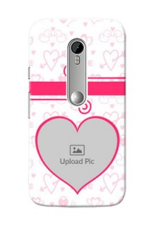 Motorola G Turbo Pink Colour Mobile Case Design