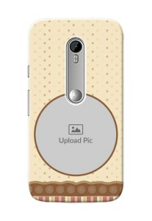 Motorola G Turbo Brown Abstract Mobile Case Design