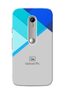 Motorola G Turbo Blue Abstract Mobile Cover Design